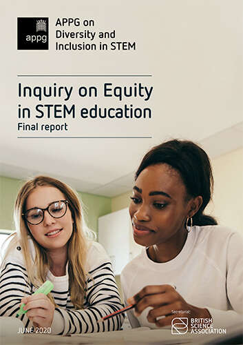 Cover of Inquiry on Equity in STEM education report