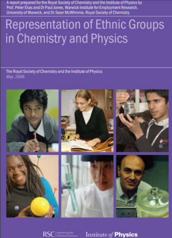 Cover of representation of ethnic groups in chemistry and physics report